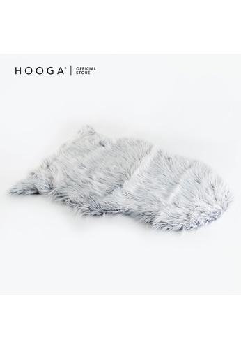 HOOGA Hooga Faux Fur Rug Penelope Navy Blue 97EB6HL3E7EFD2GS_1