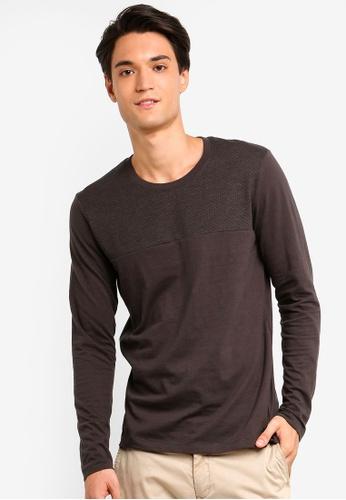 ESPRIT 灰色 長袖T恤 DDB2EAAB53D0E9GS_1
