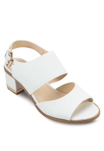 NICHE 雙帶繞踝粗跟涼鞋, 女zalora是哪裡的牌子鞋, 中跟
