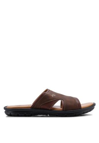 Louis Cuppers 褐色 Faux Leather Sandals 2CEC0SHB306FFBGS_1