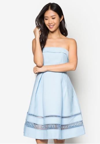 Premium 蕾絲拼接露肩傘擺洋裝, 服飾, 派對洋zalora taiwan 時尚購物網鞋子裝