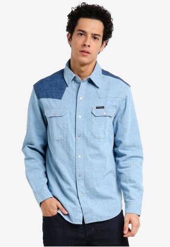 Calvin Klein blue Archive Western Shirt - Calvin Klein Jeans  709F2AA190FD16GS 1 26930fdbc52c