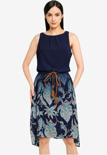 Desigual navy Dress with side Slits 2336CAAE269452GS_1