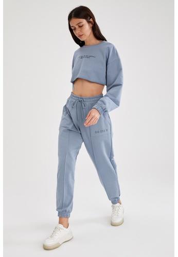 DeFacto blue Woman Athleisure Knitted Trouser FBA9BAA795B448GS_1