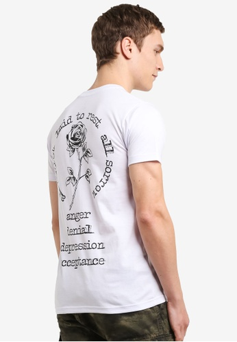 Graphite white Laid To Rest T-Shirt GR677AA0SCAEMY_1