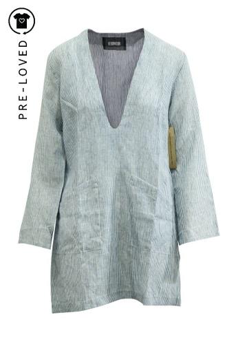 Reformation blue Pre-Loved reformation Oversized V-neck Mini Dress E6927AAD7EFD7AGS_1