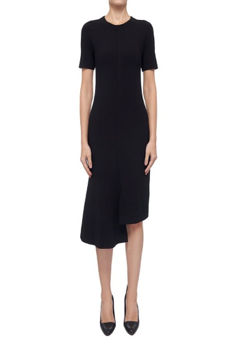 CK CALVIN KLEIN black Heavy Textured Ponte Dress 925A8AA900A080GS_1