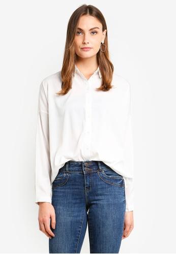 Vero Moda white Fabulous Oversize Shirt 48AC3AA1076FE4GS_1