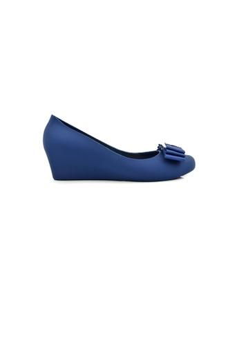 SHINE blue Metal Ribbon Jelly Wedges 27C1CSHCA47D0AGS_1