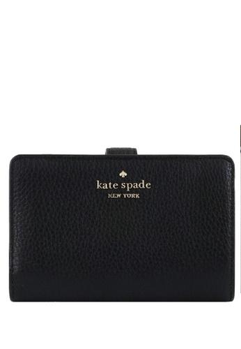 Kate Spade black Kate Spade Leila Medium Compartment Bifold Wallet -Black 12F99AC93B6358GS_1