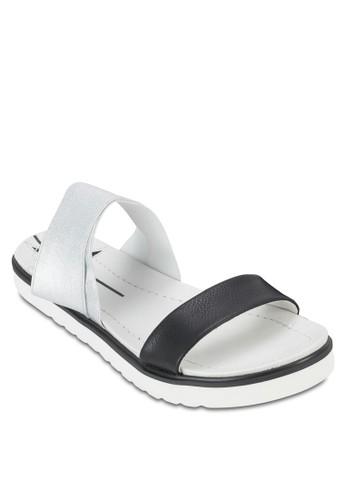 雙色厚底涼zalora 台灣門市鞋, 女鞋, 鞋