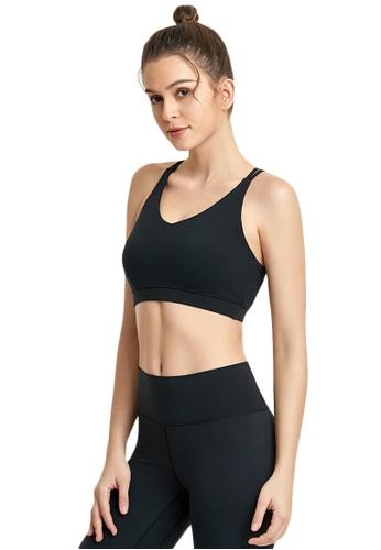 B-Code black ZWG7008Lady Quick Drying Running Fitness Yoga Sports Bra -Black 523F7USC8340A5GS_1
