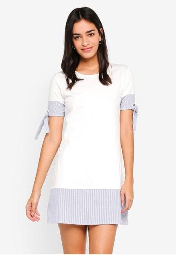 ZALORA white Bow Sleeve Dress A0304AA06179C3GS_1