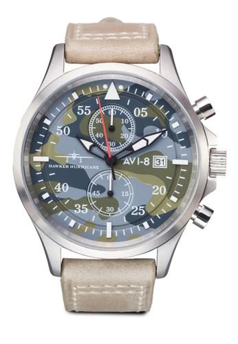 Hawker Hurricane 迷esprit官網彩多功能皮革錶, 錶類, 皮革錶帶