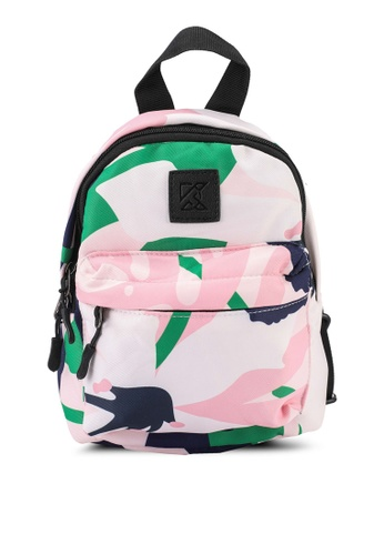 Keddo pink and green and blue Sabiya Backpack AACA8AC7342308GS_1