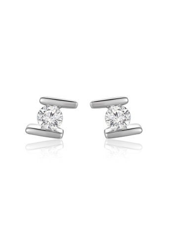 MaBelle silver 18K/750 White Gold Diamond  Earrings 2D76AAC0FA944CGS_1