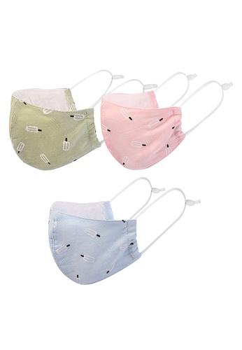 Milliot & Co. pink Milk it Ice Cream Kids Cotton Mask 3 In 1 Set 34733ES8608F1BGS_1