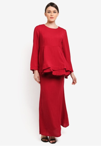BYN red Muslimah Skirt BY059AA0SELVMY_1