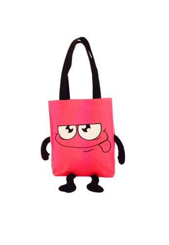 ROY & BIV pink Emoti Tote Bag RO781AC33AYWPH_1