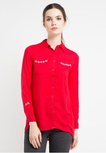 Cardinal red Girl Kemeja 11115AABEC496BGS 1 a5203b6611
