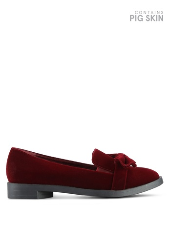 BETSY red Bow Detail Loafers BE207SH0REPZMY_1