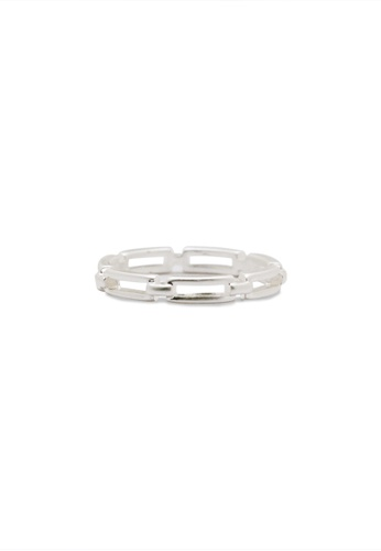 SKEDA silver Chain Link Ring 37718AC85754C7GS_1