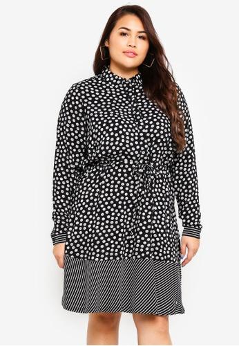 Junarose black Plus Size Lisia Mini Dress 2E021AAE58E0CBGS_1