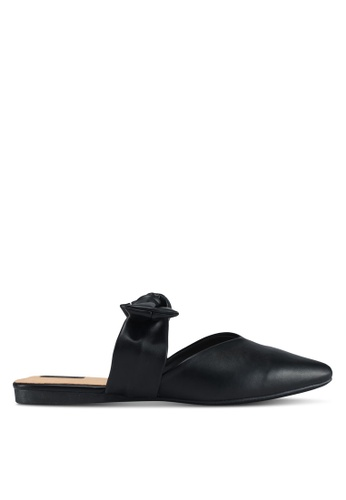 LOST INK black Fame Bow Strap Flats 03D86SH7A2045EGS_1