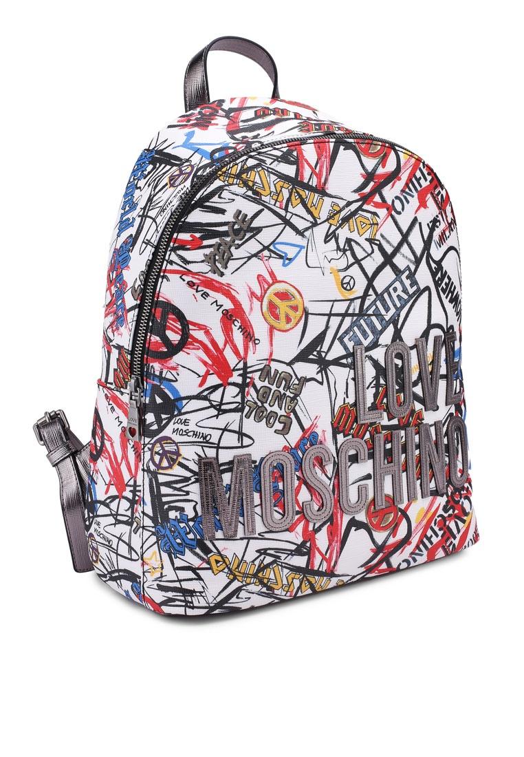2372678517c ... Borsa Love Black White Backpack Moschino Friday Digital Sqw1AS6 ...