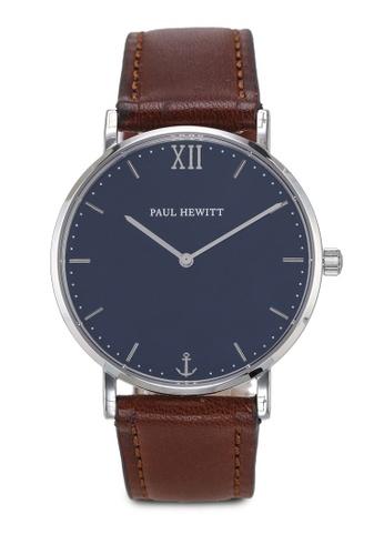Paul Hewitt brown Sailor Line Blue Lagoon Watch 6CAFBAC3F1DFE8GS_1