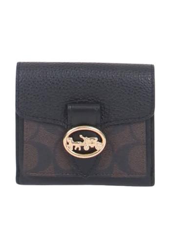 Coach brown Coach Signature Small Georgie 7250 Wallet In Brown Black D54F9ACBA997CCGS_1