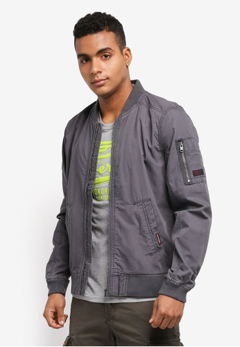 Superdry grey Rookie Duty Bomber Jacket EC04AAAC5FE0C4GS_1