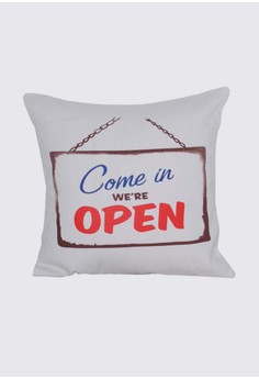 Come In, We're Open Throw Pillow Case
