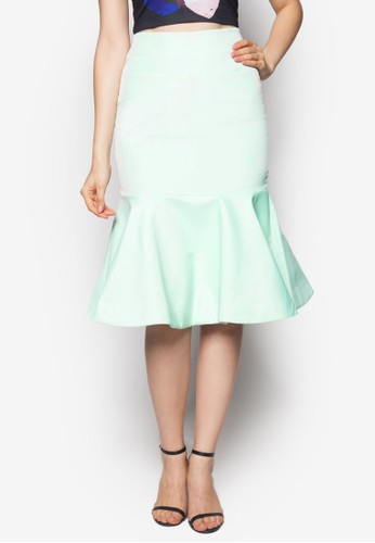 Carolyn 美人魚及膝短zalora 心得裙, 服飾, 服飾