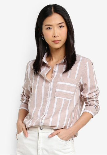 Cotton On beige Casual Rebecca Shirt AE3B3AA2FBF310GS_1
