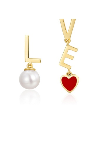 SUNSET 金色 Premium S925 Sliver Pearl Earring ECB78ACE86F7A1GS_1
