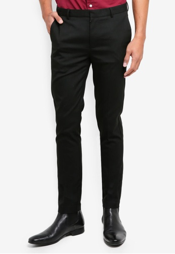 Topman black Black Ultra Skinny Fit Smart Trousers 7A1D8AA9E5409DGS_1
