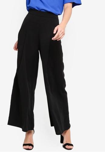 ZALORA black Wide Leg Pants D0F80AA2F07BE2GS_1