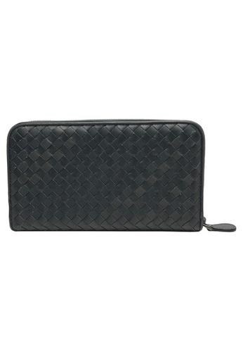 BOTTEGA VENETA grey Bottega Veneta Intrecciato Zip Around Wallet in Grey C7C5CACD7F26B1GS_1