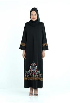 1388dff48 Bewa black Baroque Embroidered Jubah 59EBAAAB58736FGS_1