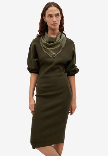 Mango green Fine Knitted Dress A6A7BAA149E7BFGS_1