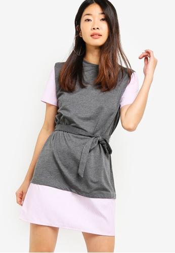 Something Borrowed grey Tee Dress 6DDFAAAE5F81CDGS_1