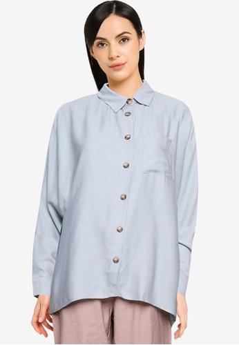 LC WAIKIKI green Textured Fabric Loose Shirt 0C6CDAA8A872A7GS_1