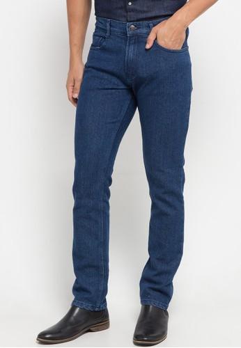 Jimmy Martin blue Basic Slim Stretch Denim Pants C83E8AA2AEEC62GS_1