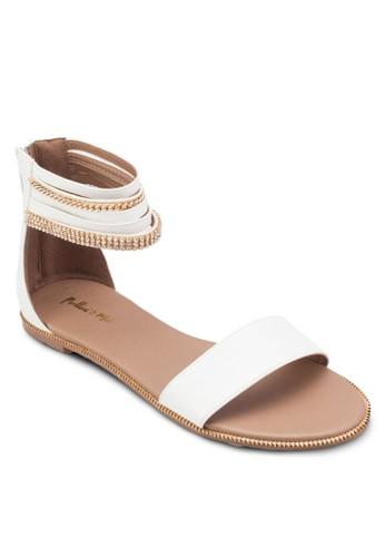 鍊飾包跟涼鞋zalora是哪裡的牌子, 女鞋, 涼鞋