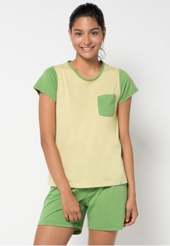 PUPPY green Meta Sleepwear PU643AA20KBZID_1