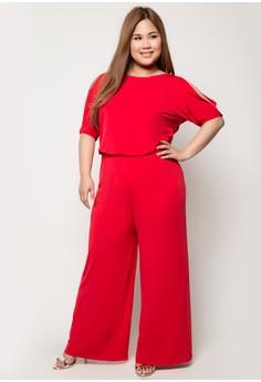 Plus Size Georgia Cut-Out Shoulder Jumpsuit