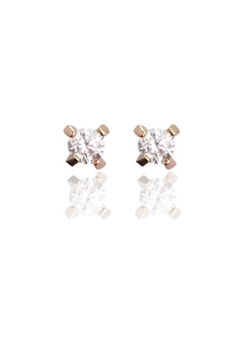 Memento Collection silver Simple Zircon Detailed Earrings ME060AC79VHCMY_1