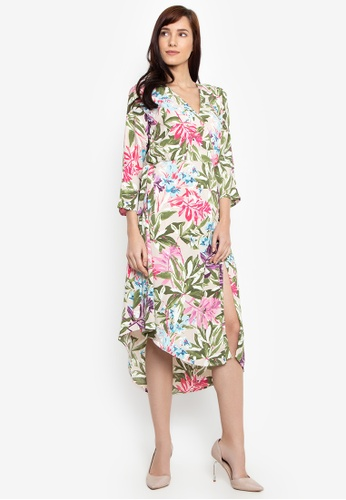 f322f99f9ed Shop Cortefiel Kimono Floral Dress Online on ZALORA Philippines
