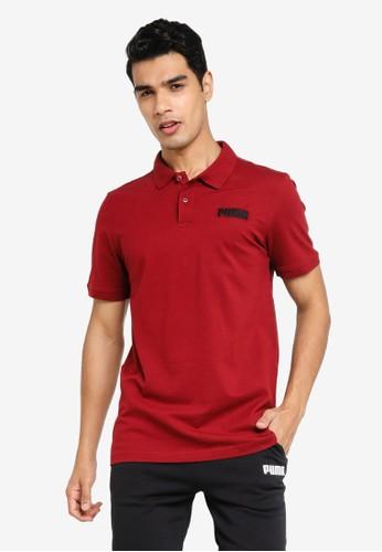 PUMA red Essentials Pique Men's Polo Shirt FA2CEAA60F2F08GS_1